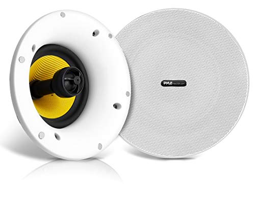 "Wifi Bluetooth Ceiling Mount Speakers - 6.5"" In-Wall/In-Ceiling Dual Active and Passive Speaker..."