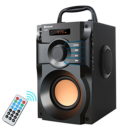 Bluetooth Speaker, Portable Speakers with Subwoofer Wireless Stereo Sound Bass Wooden Outdoor Party...