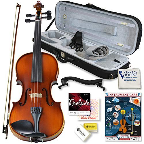 Bunnel Pupil Violin Outfit 4/4 Full Size Clearance By Kennedy Violins - Carrying Case and...