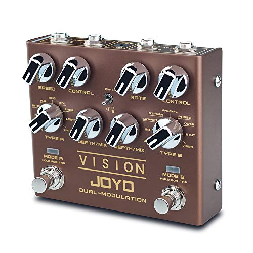 JOYO R-09 VISION Multi-Effects Pedal Dual Channel Modulation Effect Pedal for Electric Guitar Each...