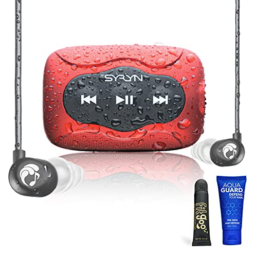 SYRYN Swimbuds Flip Bundle   8 GB Waterproof Music Player Compatible with iTunes Files (No Apple...