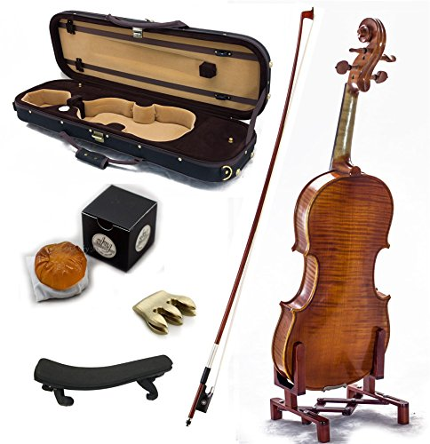 SKY 4/4 Full Size Antique Style Professional Handmade VN401 Violin Kit w Case Bow Rosin Mute