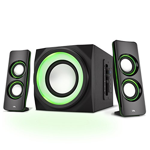 Cyber Acoustics Bluetooth Speakers with LED Lights – The Perfect Gaming, Movie, Party, Multimedia...
