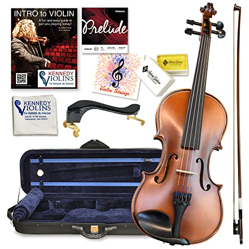 Antonio Giuliani Etude Violin Outfit 3/4 Size By Kennedy Violins - Carrying Case and Accessories...