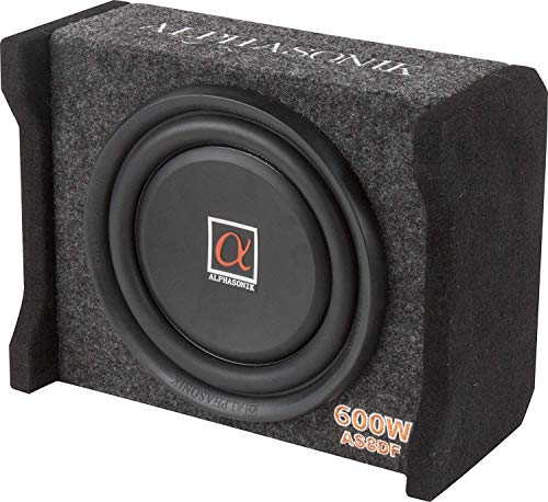 PIONEER Alphasonik AS8DF 8 inch 600 Watts 4-Ohm Down Fire Shallow Mount Flat Enclosed Sub woofer for...