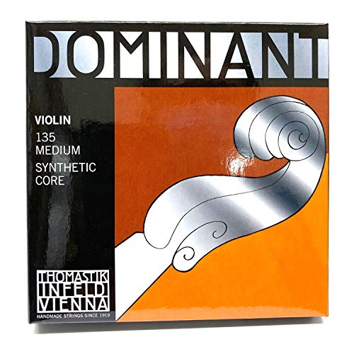 Thomastik-Infeld 135 Dominant Violin Strings, Complete Set, 135, 4/4 Size, with Aluminum Wound Ball...
