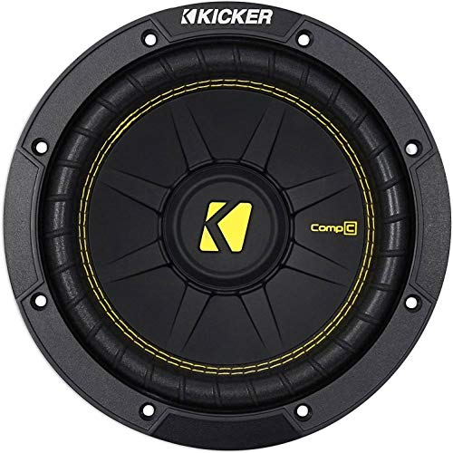 Kicker 44CWCD84 CompC 8 Inch 4 Ohm 200 Watt RMS Power and 400 Watts Peak Power Dual Voice Coil Car...