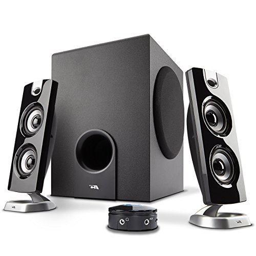 Cyber Acoustics CA-3602FFP 2.1 Speaker Sound System with Subwoofer and Control Pod - Great for...