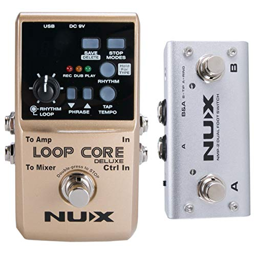 NUX Loop Core Deluxe Guitar Looper 8 hours Loop Time,24-bit Audio,Automatic Tempo Detection with...