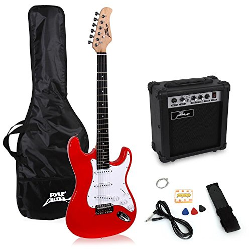 PylePro Full Size Electric Guitar Package w/ Amp, Guitar Bundle, Case & Accessories, Electric Guitar...