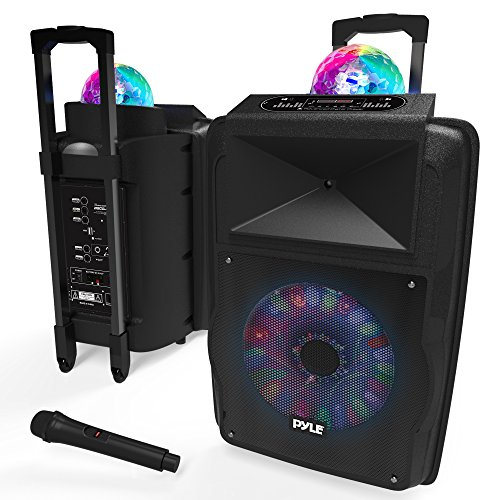 Wireless Portable PA Speaker System - 700 W Battery Powered Rechargeable Sound Speaker and...