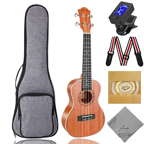 Concert Ukulele Ranch 23 inch Professional Wooden ukelele Instrument Kit with 12 Free Online Lessons...