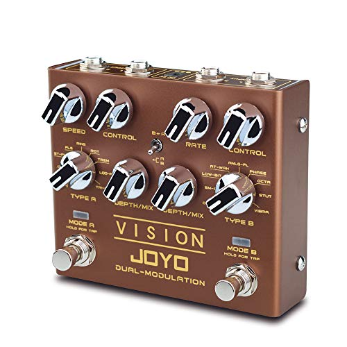 JOYO Vision R-09 R Series Dual Channel Modulation Multi Effects Pedal Supports Stereo Input and...