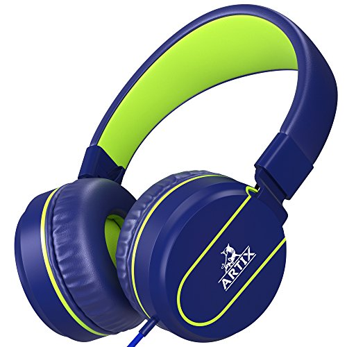 Artix Foldable On-Ear Adjustable Tangle-Free Wired Headphones, Compact Stereo Earphones with In-line...