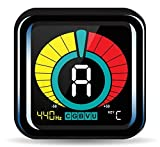 KLIQ UberTuner - Clip-On Tuner for All Instruments - with Guitar, Bass, Violin, Ukulele & Chromatic...