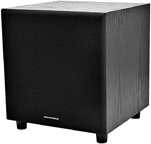 Monoprice 60-Watt Powered Subwoofer - 8 Inch With Auto-On Function, For Studio And Home Theater...