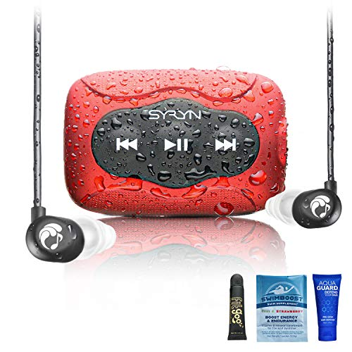 SYRYN Swimbuds Flip Bundle | 8 GB Waterproof Music Player Compatible with iTunes Files (No Apple...