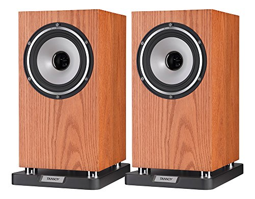 TANNOY Revolution XT 6 Bookshelf Speaker under 1000 (Medium Oak, Pair)