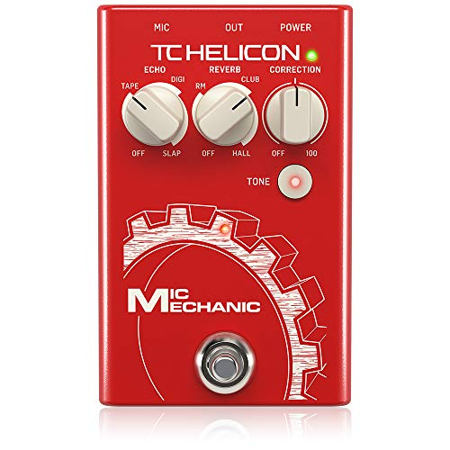 TC-Helicon TC Helicon'TC Helicon VoiceTone Mic Mechanic 2 Reverb, Delay, & Pitch Correction Pedal'