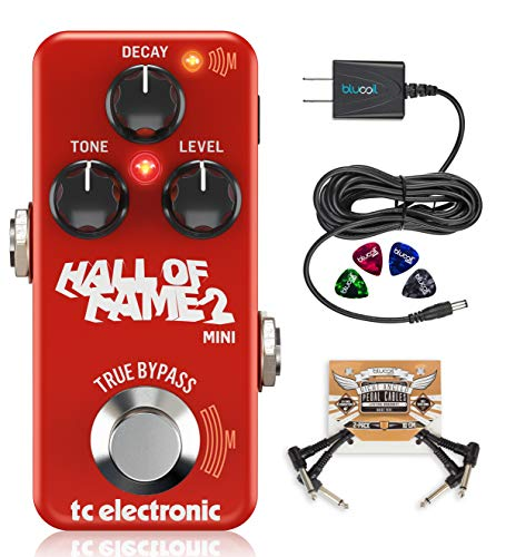 TC Electronic Hall of Fame 2 Mini Reverb Guitar Effects Pedal with True Bypass Bundle with Blucoil...