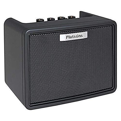 Flatsons Electric Guitar Mini Modeling Amp Portable Desktop Guitar Amplifier 3W with 2 Channels...