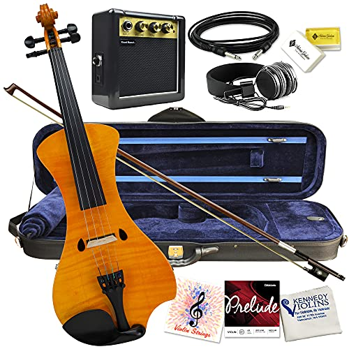 Electric Violin Bunnel NEXT Outfit 4/4 Full Size (HONEY)- Electric Amp, Carrying Case and...