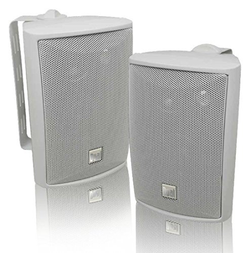 Dual Electronics LU43PW 3-Way High Performance Outdoor Indoor Speakers with Powerful Bass  ...