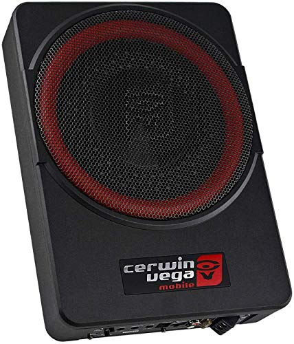 Cerwin Vega VPAS10 10' 2Ω 550W Max / 200W RMS Powered Active Subwoofer Enclosure + Bass Knob