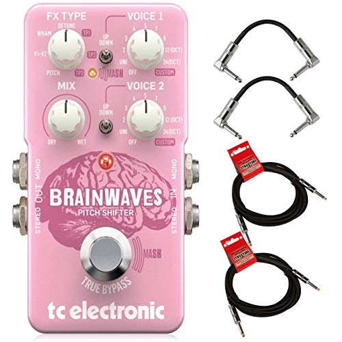 TC Electronic Brainwaves Exceptional Pitch Shifter Guitar Effect Pedal with Studio Grade Algorithms,...