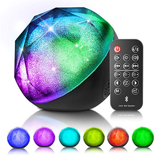 VersionTECH. LED Bluetooth Speaker Colorful Wireless Loud Speaker with Remote Control, Enhanced Bass...