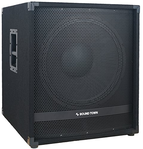 "Sound Town METIS Series 1800 Watts 15"" Powered Subwoofer with Class-D Amplifier, 4-inch Voice Coil..."