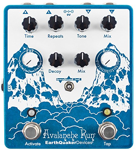 EarthQuaker Devices Avalanche Run V2 Stereo Reverb & Delay with Tap Tempo Guitar Effects Pedal