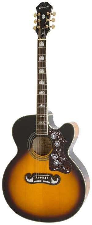 Epiphone EJ 200 SCE Acoustic Electric Guitar Standing Up