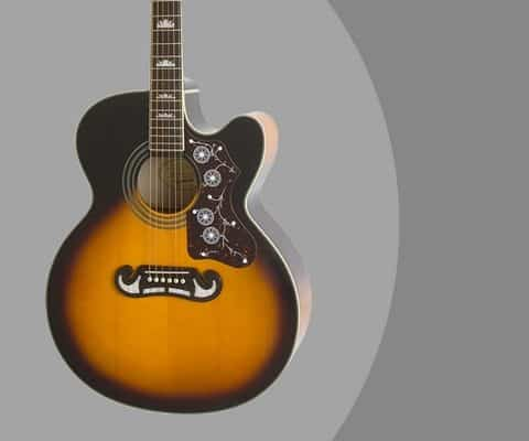 Epiphone EJ-200SCE Solid Top Cutaway Acoustic Electric Guitar Review