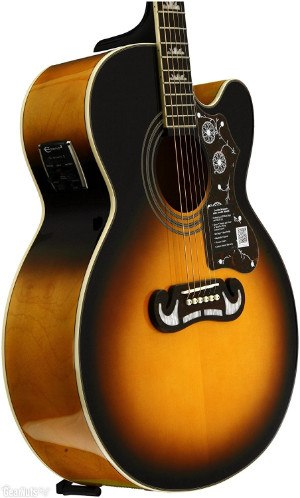 Epiphone EJ 200SCE Acoustic Electric Guitar zoomed in