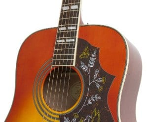 Epiphone Hummingbird Pro Guitar zoomed in