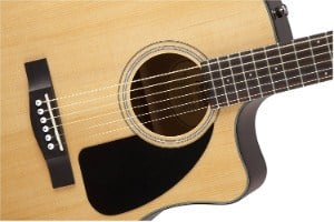 Fender CD60CE Acoustic Electric Guitar zoomed in