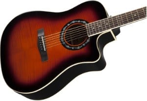 Fender T Bucket 300CE Guitar in Sunburst Color