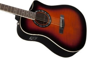Fender T Bucket 300CE in Sunburst up close