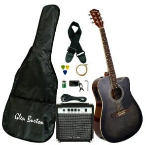 Glen Burton GB150BCO Acoustic Electric Guitar Package