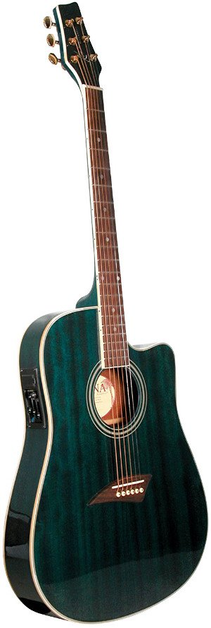 Kona K2TBL Acoustic Electric Dreadnought Cutaway Guitar