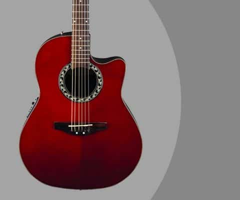 Ovation AB24 Acoustic-Electric Guitar Review [Ruby Red]