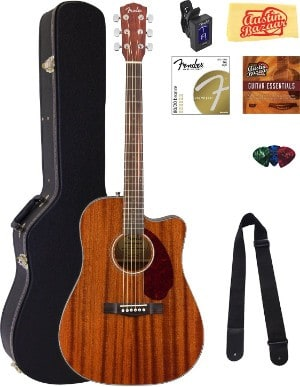 fender bundle cd-140sce mahogany