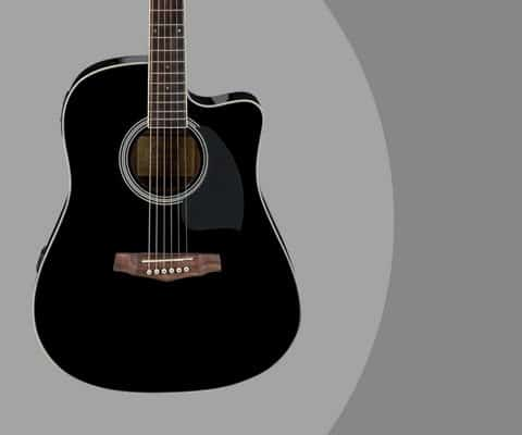 Ibanez PF Series PF15ECE Dreadnought Cutaway Acoustic Electric Guitar Review