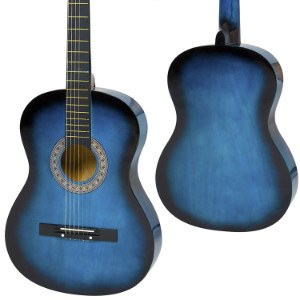 Front and rear view of Best Choice Products acoustic guitar