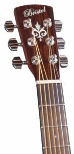 Headstock on Bristol BD-16 guitar