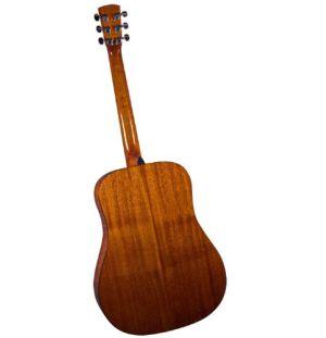 Rear view of Bristol BD-16 acoustic guitar