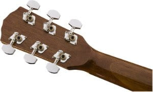 Rear view of Fender CP-60S headstock