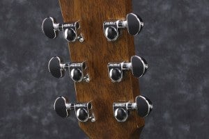 Rear view of Ibanez AC240-OPN Headstock