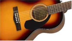Sound hole on Fender CP-60S guitar